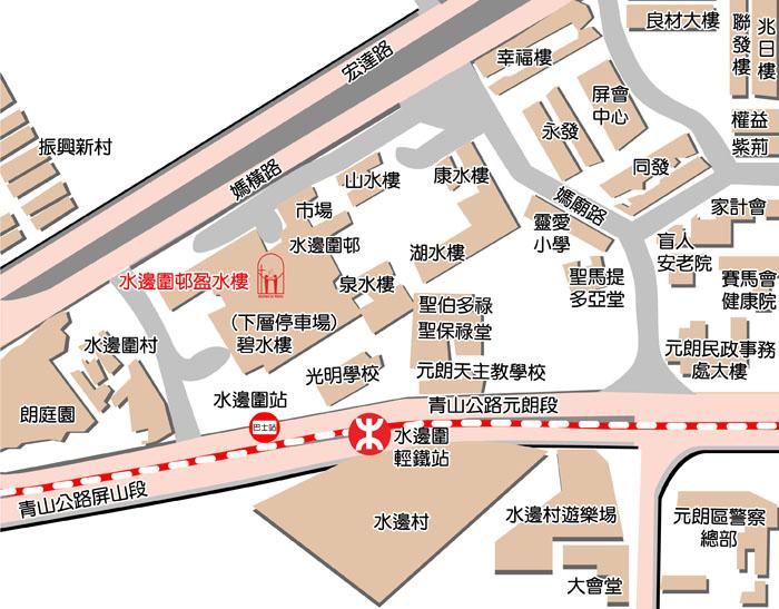元朗中心地圖